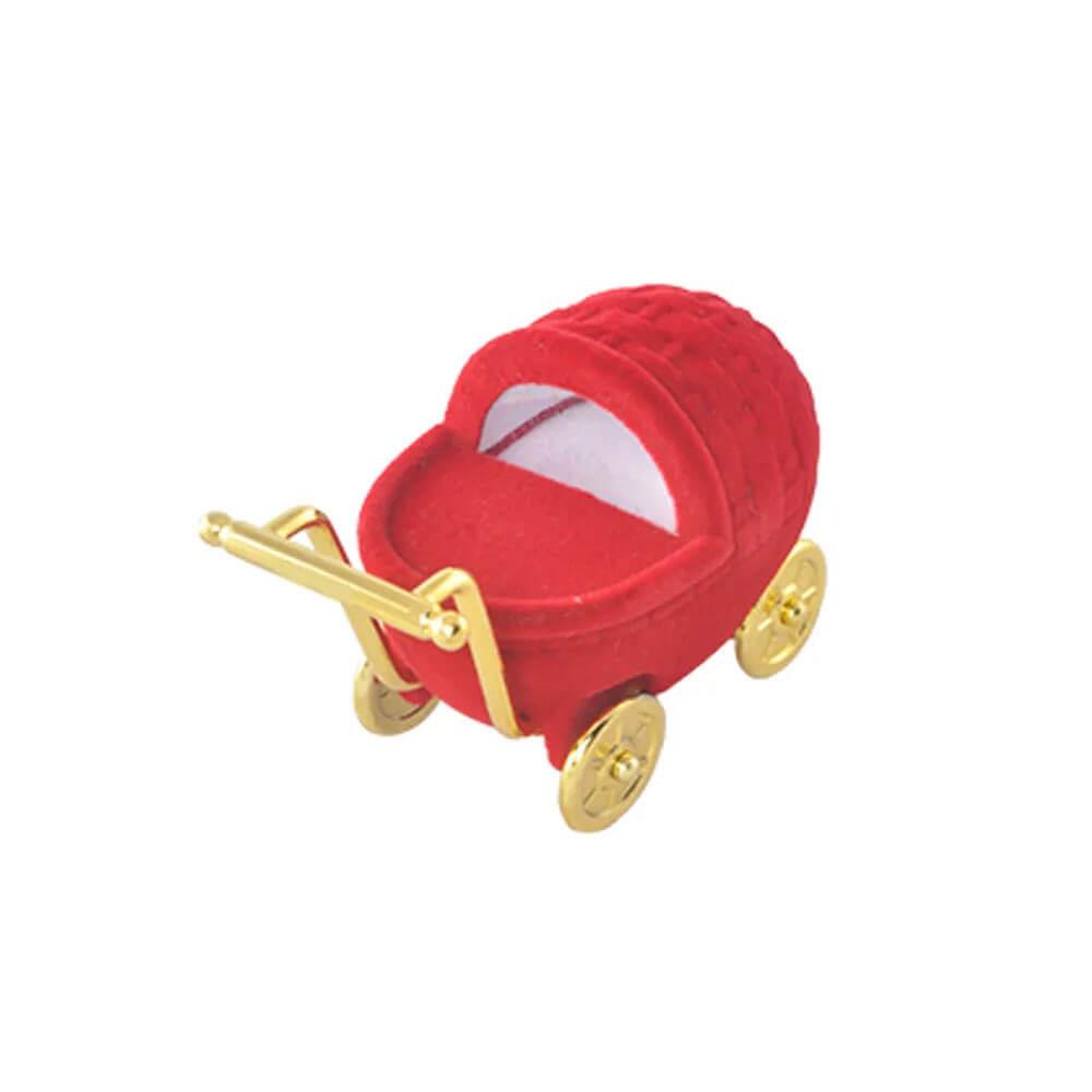 Caixinha de Joia Carrinho de Bebê Vermelha
