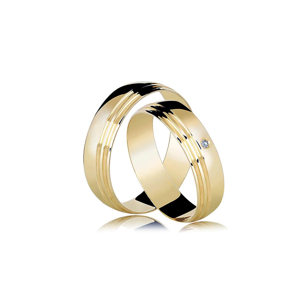 Alianças de Ouro All Diamonds