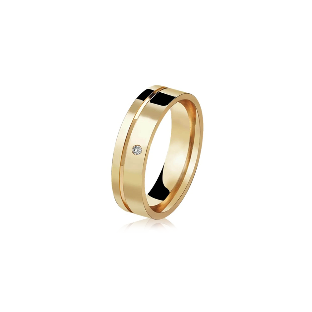 Aliança de Ouro Beloved Diamond