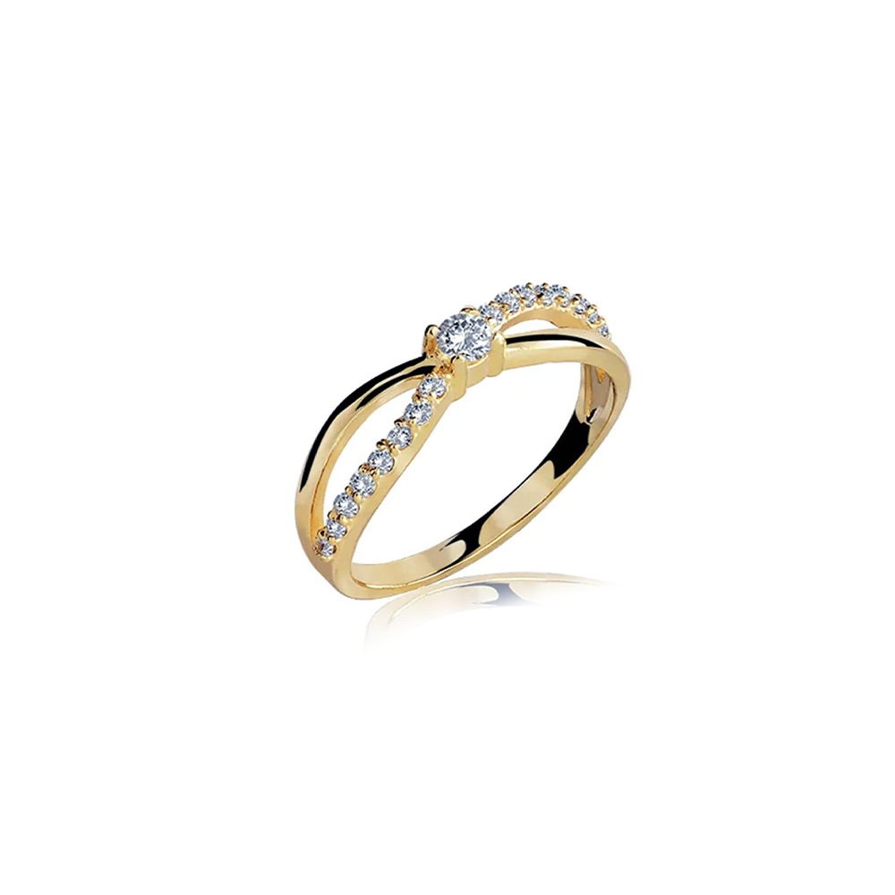Anel de Ouro Branca De Neve Diamond
