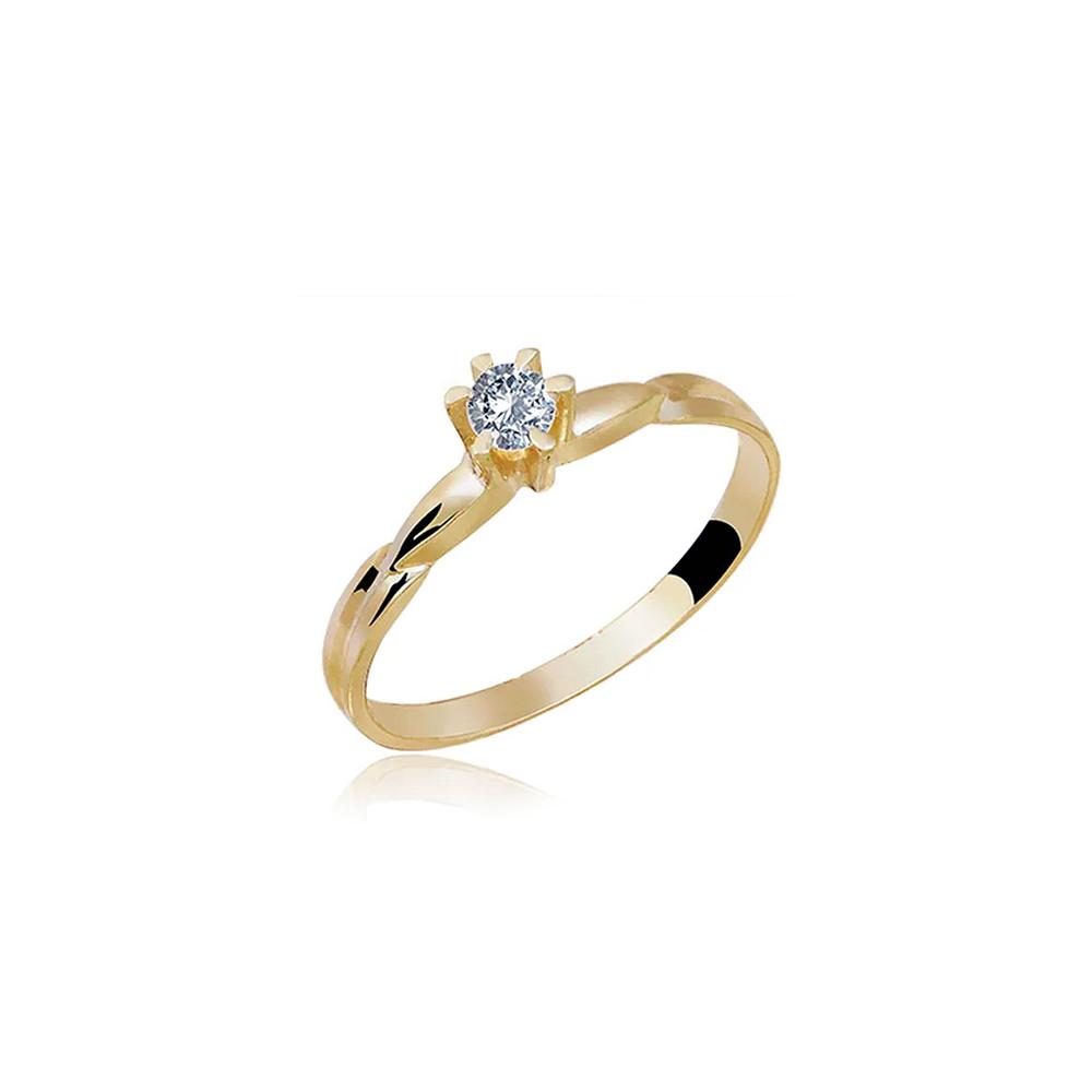 Anel de Ouro Cartago Diamond