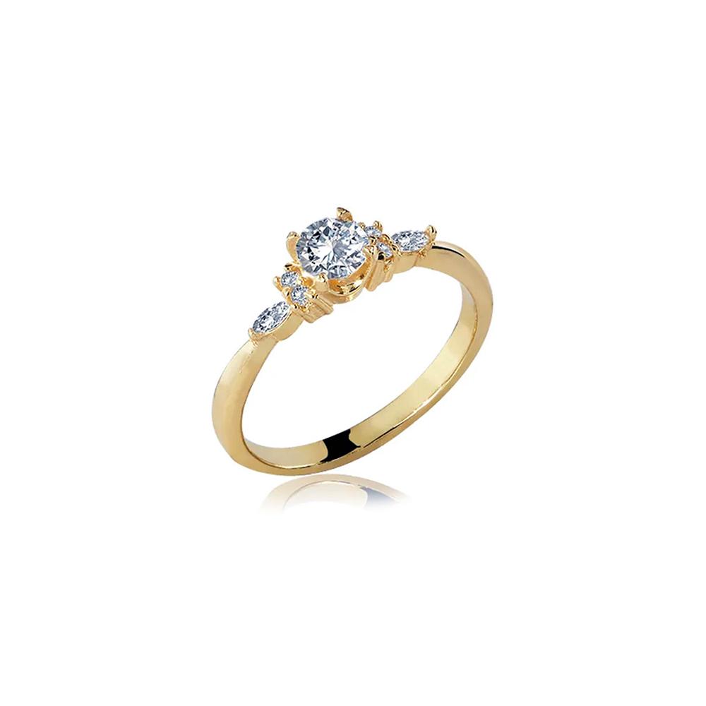 Anel de Ouro Cinderela Diamond