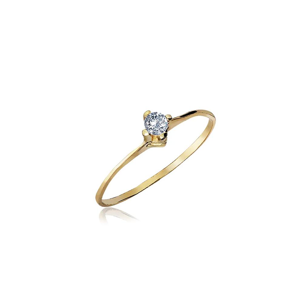 Anel de Ouro Elegance Diamond