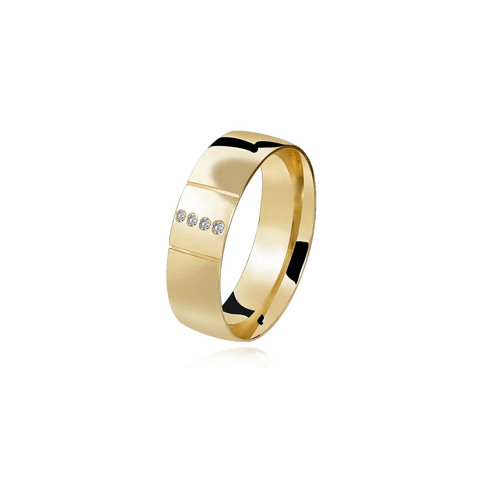 Aliança de Ouro Enlace Plus Diamond