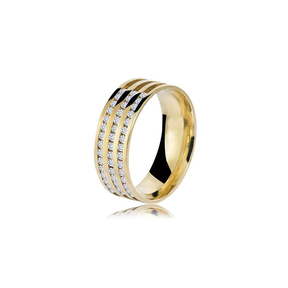 Aliança de Ouro Eternitá Diamond