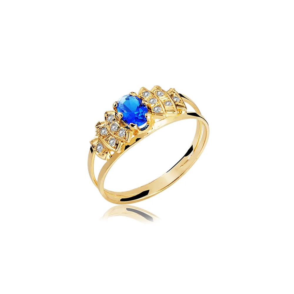 Anel de Formatura em Ouro Faciendo Natural Diamonds