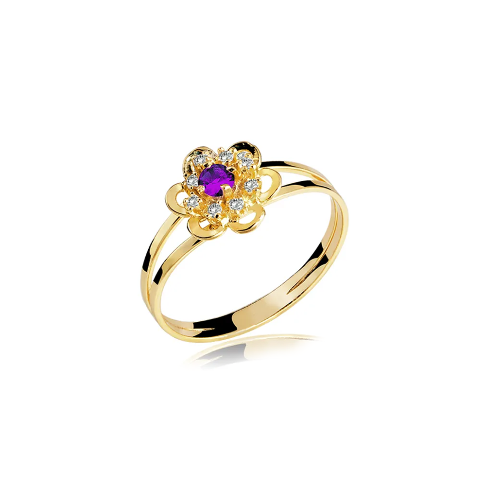 Anel de Formatura em Ouro Greophysics Natural Diamonds