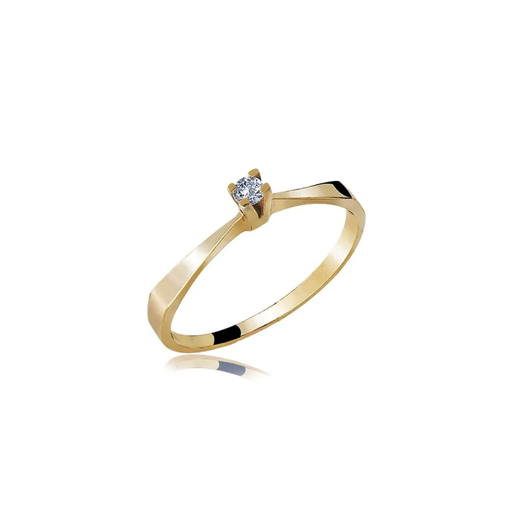 Anel de Ouro Innocens Diamond