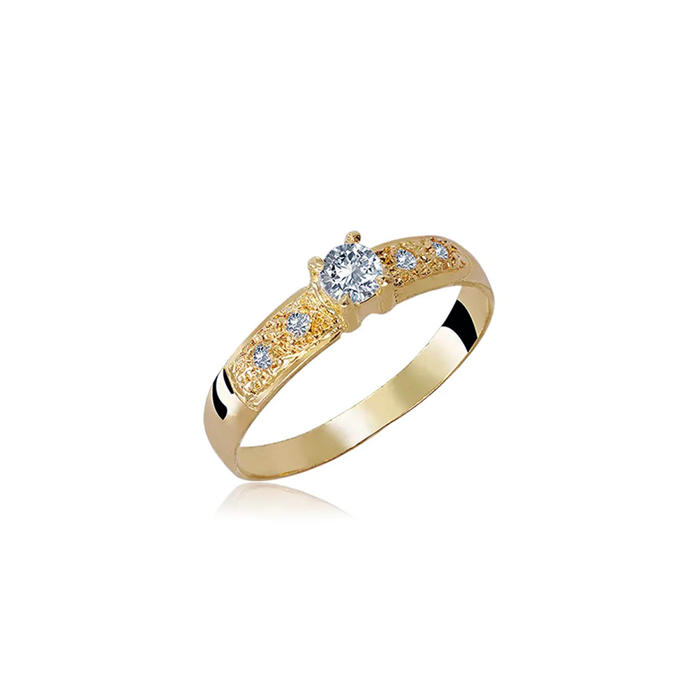 Anel de Ouro Lucida Diamond