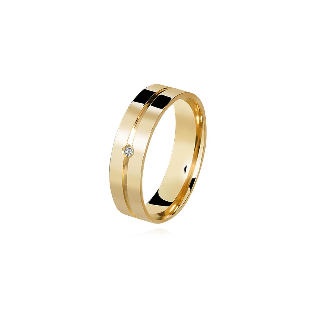 Aliança de Ouro Married Plus Diamond