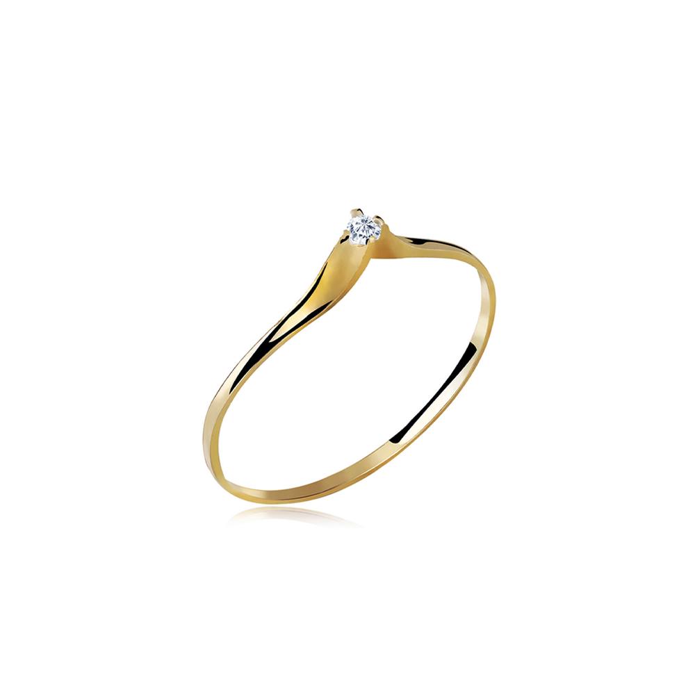 Anel de Ouro Onix Diamond