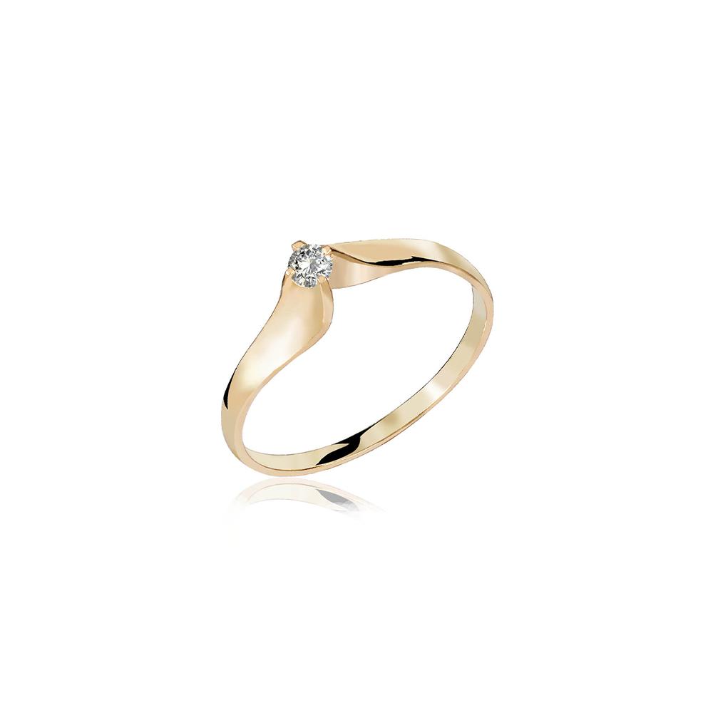 Anel de Ouro Orquídea Diamond
