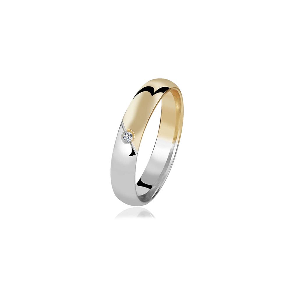 Aliança de Ouro Rockwell Diamond