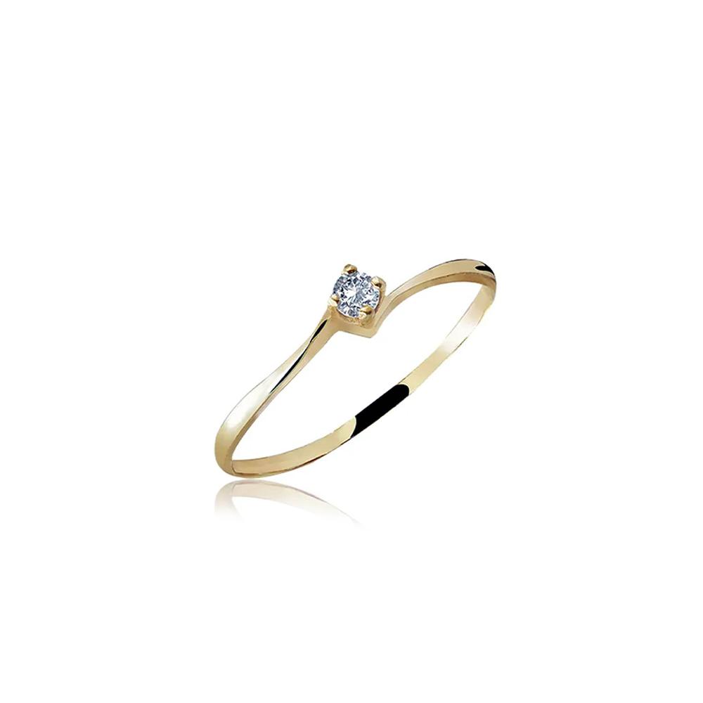 Anel de Ouro Romantic Diamond