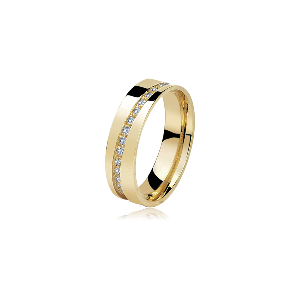 Aliança de Ouro Santorini Gran Diamond