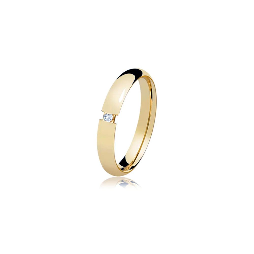 Aliança de Ouro Savona Diamond