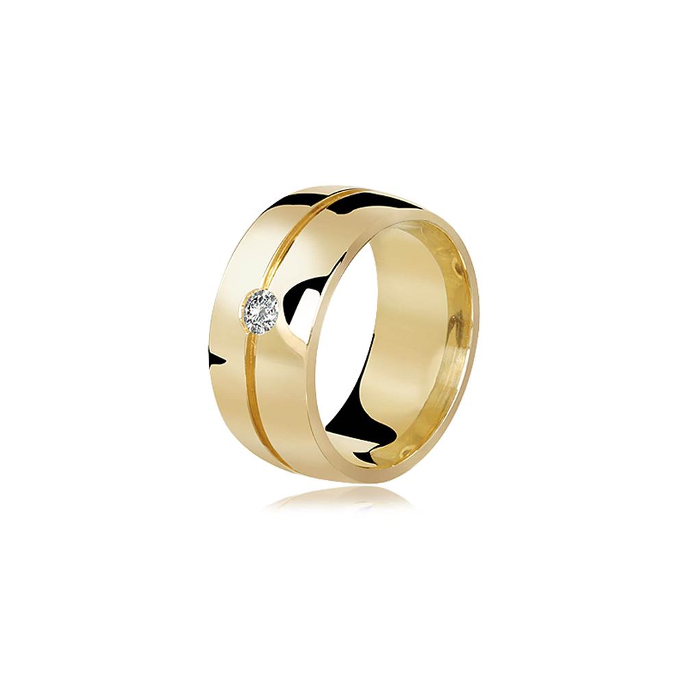 Aliança de Ouro Supreme Love Diamond