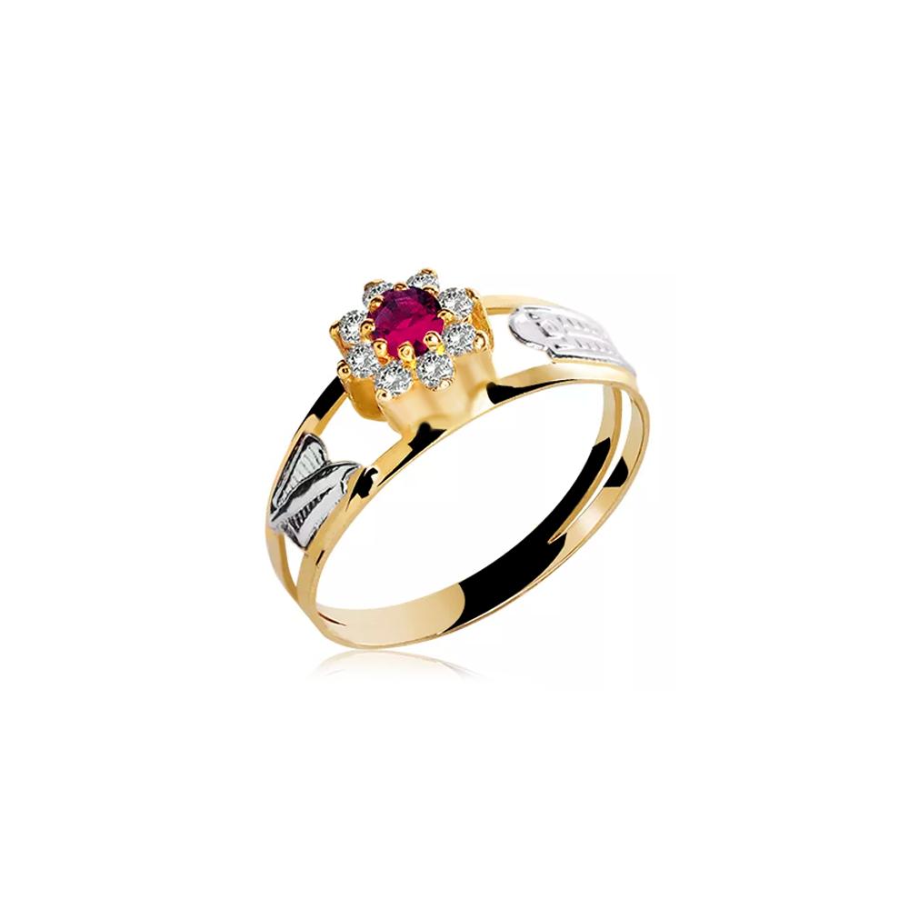 Anel de Formatura em Ouro Triangulum Natural Diamonds