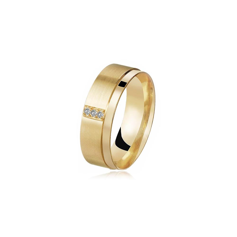 Aliança de Ouro Universe Soft Diamond