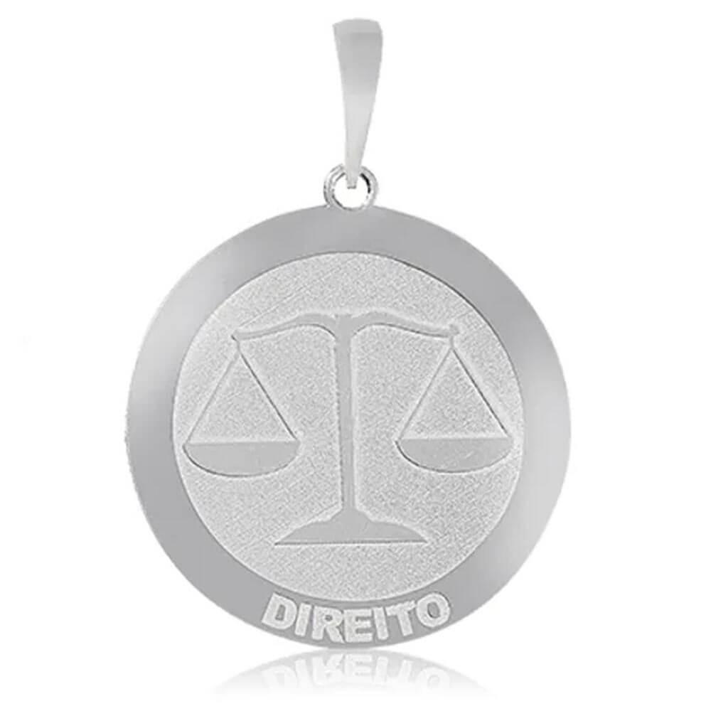 Pingente De Prata Profissão Direito