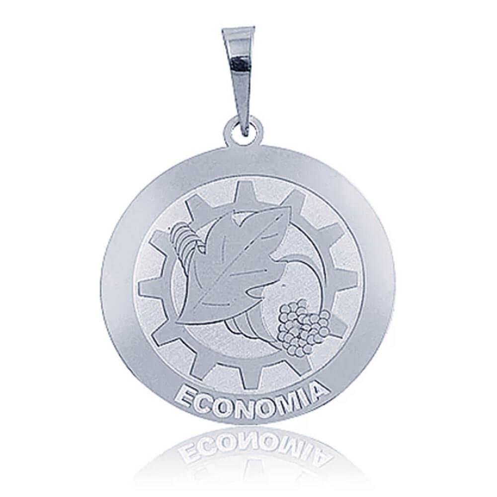 Pingente De Prata Profissão Economia