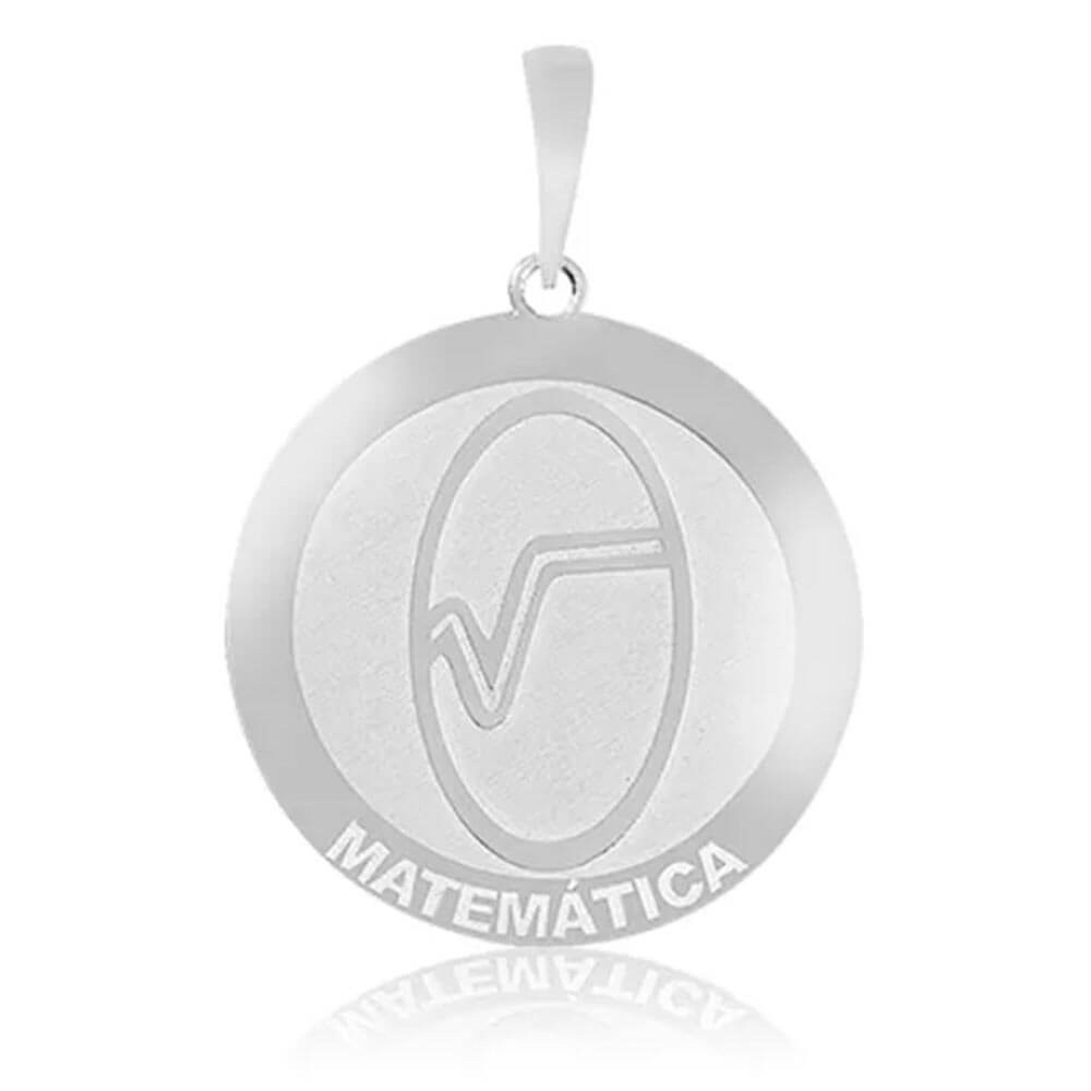Pingente De Prata Profissão Matemática