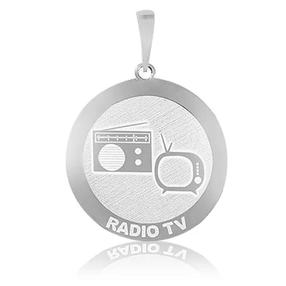 Pingente De Prata Profissão Rádio TV
