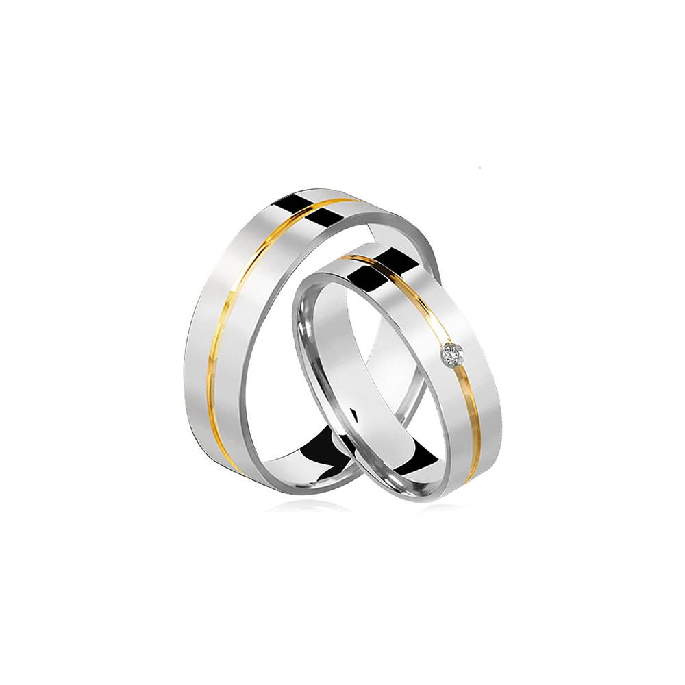 Alianças de Prata Married Plus Crystalis