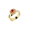 Anel de Formatura em Ouro Luppiter Crystalis