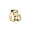 Par de Alianças de Ouro Santorini Brillian